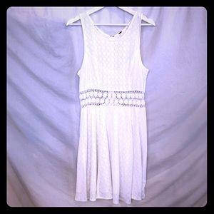 Free People Sheer Waist White Cotton Dress size 12